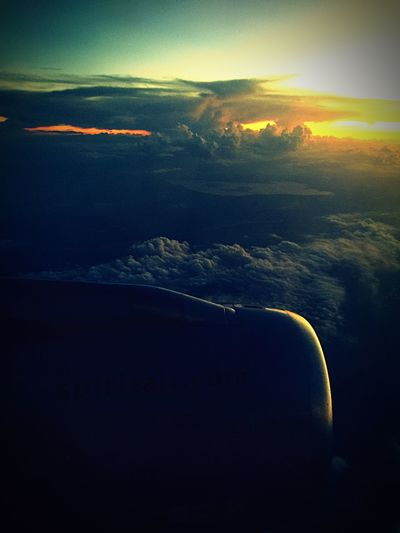 Journey...: Above The Clouds Journey My Favorite Sight From Above  Clouds Sunset Plane View Window View Window View From My Point Of View