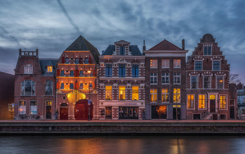 5 on a row, historical canal houses in Haarlem, Netherlands Architecture Building Exterior Built Structure Canal House Caña City Haarlem Historical House Netherlands Residential Building Town