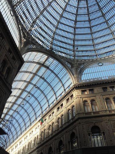 Galleria Umberto I Napoli Naples, Italy Architecture Low Angle View No People Sky City Arch Indoors  Day Built Structure Napoliphotoproject Napoli La Più Bella Del Mondo