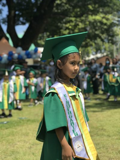 Portrait of girl graduation