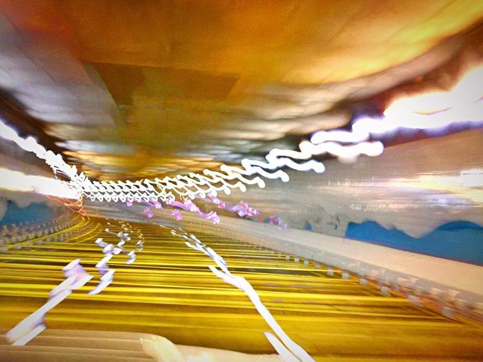 IPhoneography Slowshutterspeed Slow Shutter App IPhone 7Plus Movement Light Trail Speed Tunnel Vision Road Trip Night Lights Night Photography Blurred Motion Wavy Lines