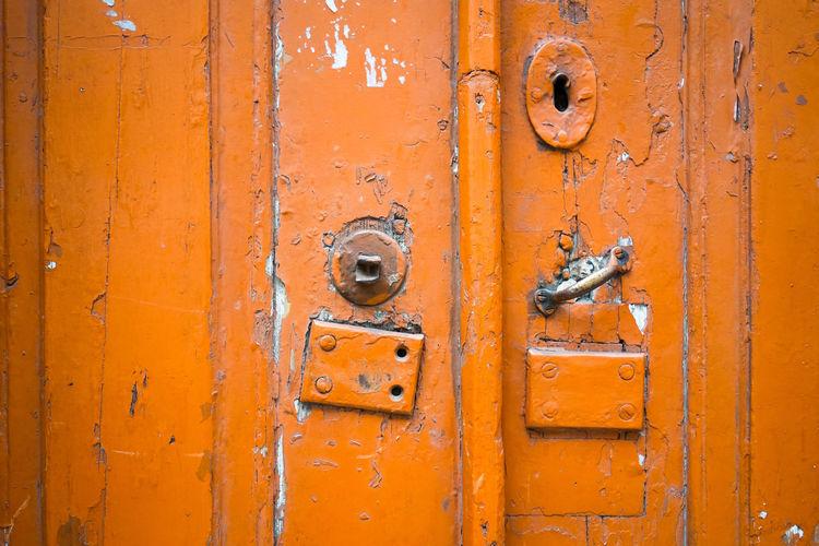 Detail Shot Of Closed Doors