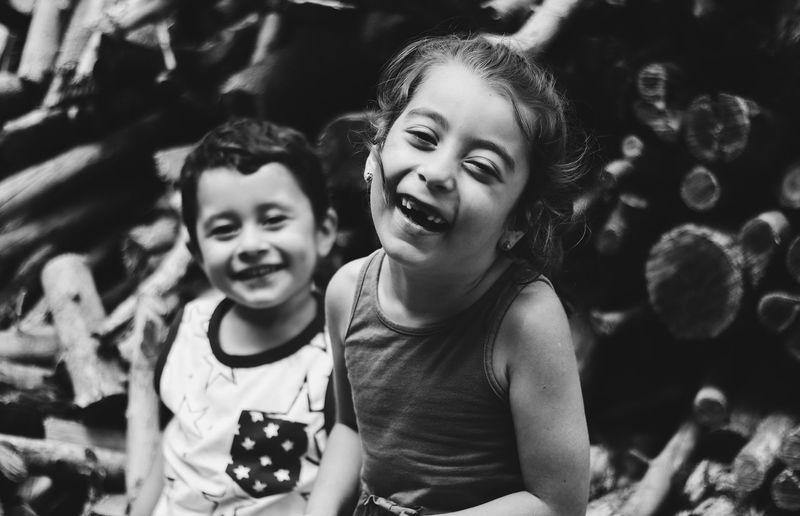 smile forever... Blackandwhite Black & White Blackwhite B&w Siyahbeyaz Siyah & Beyaz Chilhood Child Portrait Childhood Smiling Friendship Happiness Togetherness Girls Females Cheerful Children Caucasian