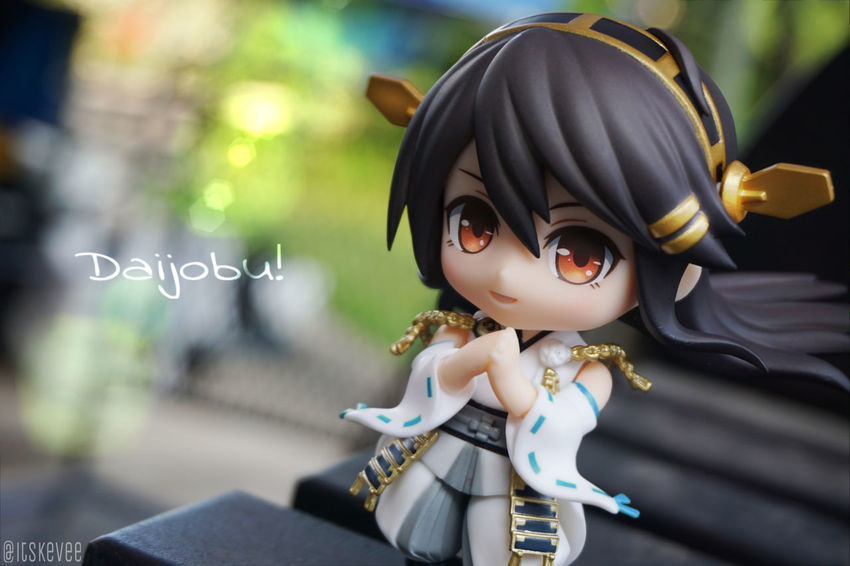 Art Close-up Day Focus On Foreground Outdoors Portrait Anime Creativity Toyphotography ねんどろいど Green Color Outdoor Photography Haruna (null)Kancolle Kantaicollection Toy