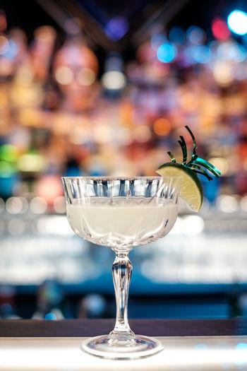 Close-up of kamikaze cocktail on bar counter