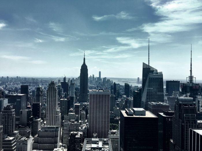 Cityscape Against Sky At Dusk