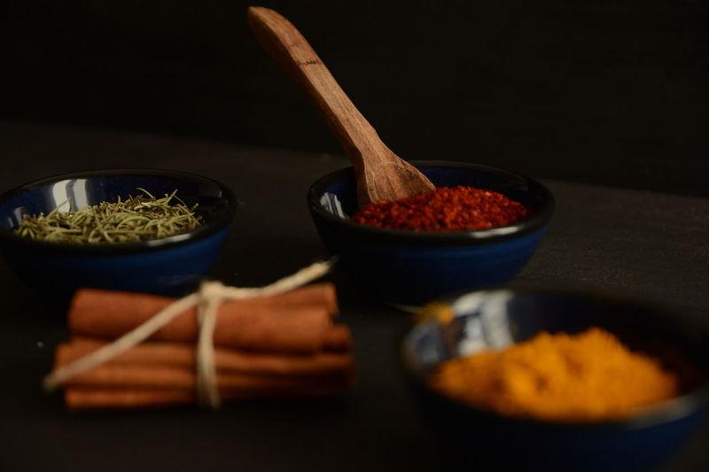 Napkins Spices Woodenspoon Napkin Thyme Red Peppers Colchicum Crocus Saffron Cinnamonrolls Cinnamon Darkfood Kitchen
