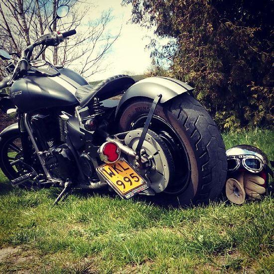 Motorcycle Custom Belgium Blackandwhite Mattblack