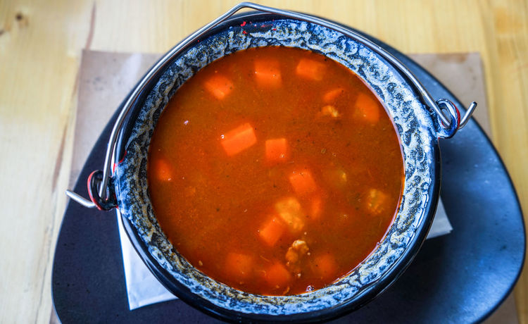 Goulash Soup Gulyás Soup Of The Day Bowl Close-up Day Directly Above Food Food And Drink Freshness Goulash Healthy Eating High Angle View Hungarian Hungarian Food Indoors  No People Plate Ready-to-eat Soup Soup Bowl Table Vegetable Soup