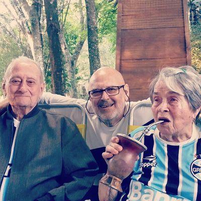 Os responsáveis e o primogênito de 13 filhos: Odilo, Maria e meu papai... três amados!♥♡ 33EncontroWenzel FamíliaWenzel Emuitoamor Vaitercuca ijuí riograndedosul brazil