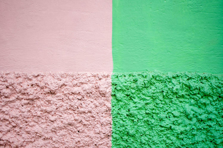 Copy Space Paint Wall Background Colorful Concrete Dirty Empty Green Color Texture