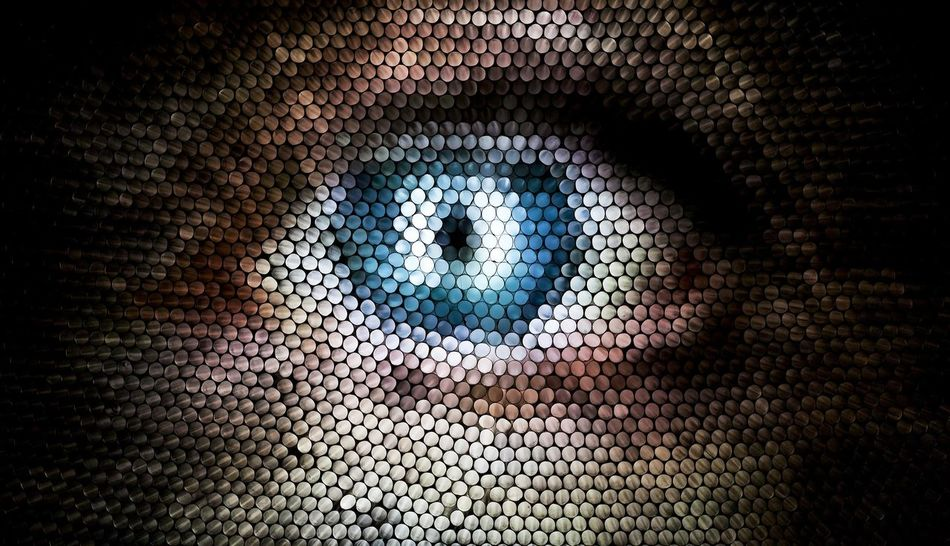 Multi Colored No People Pixelated Abstract Eye Circles Pattern Strawcamera Straws Textured  Illuminated Human Eye Perspectives On People