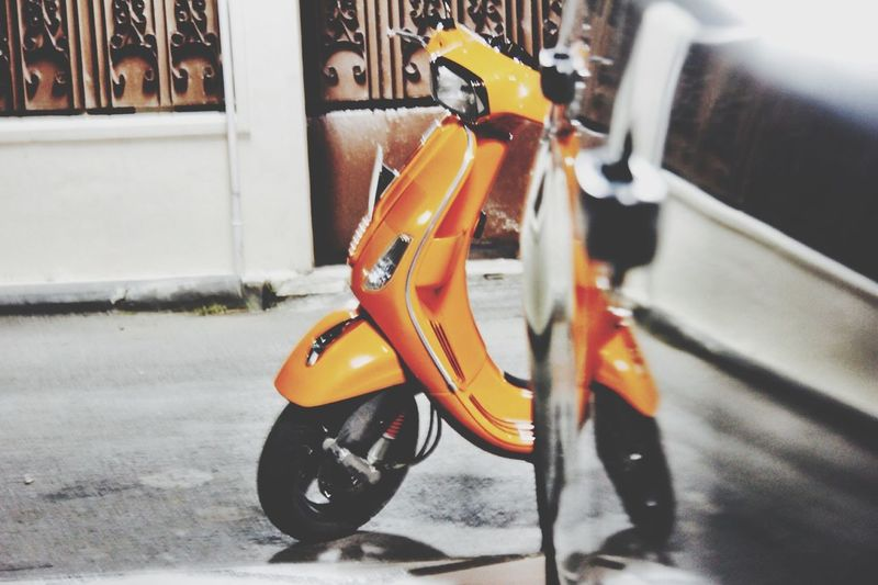 Taking Photos I❤vespa Going For A Ride Orange