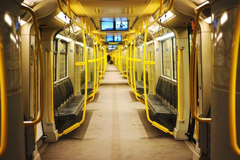 37/365: Big empty subway car is pretty empty // Notes From The Underground Project 365 2015 In 365 Photos Open Edit