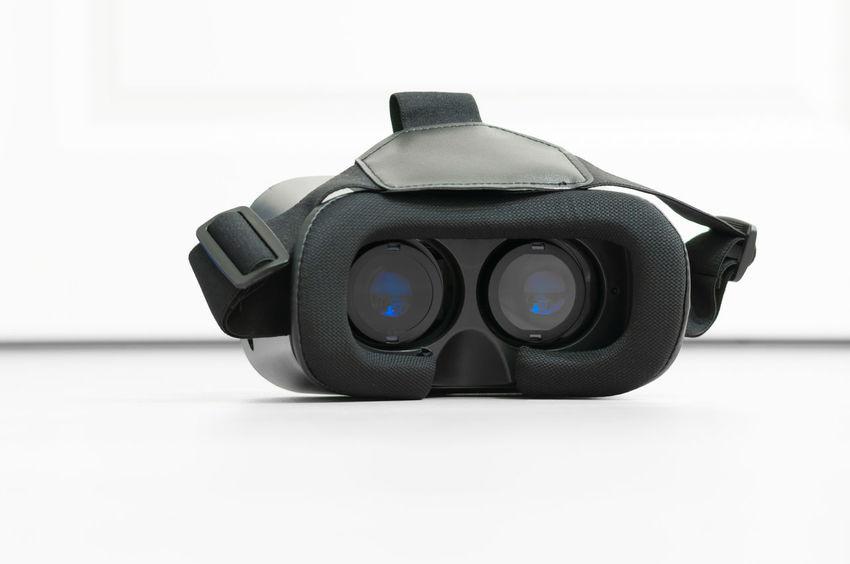 Black VR glasses Future Futuristic Glasses Mobile Virtual Reality Virtual Reality Headset Virtual Reality Simulator Virtual Reality World Vr White Background