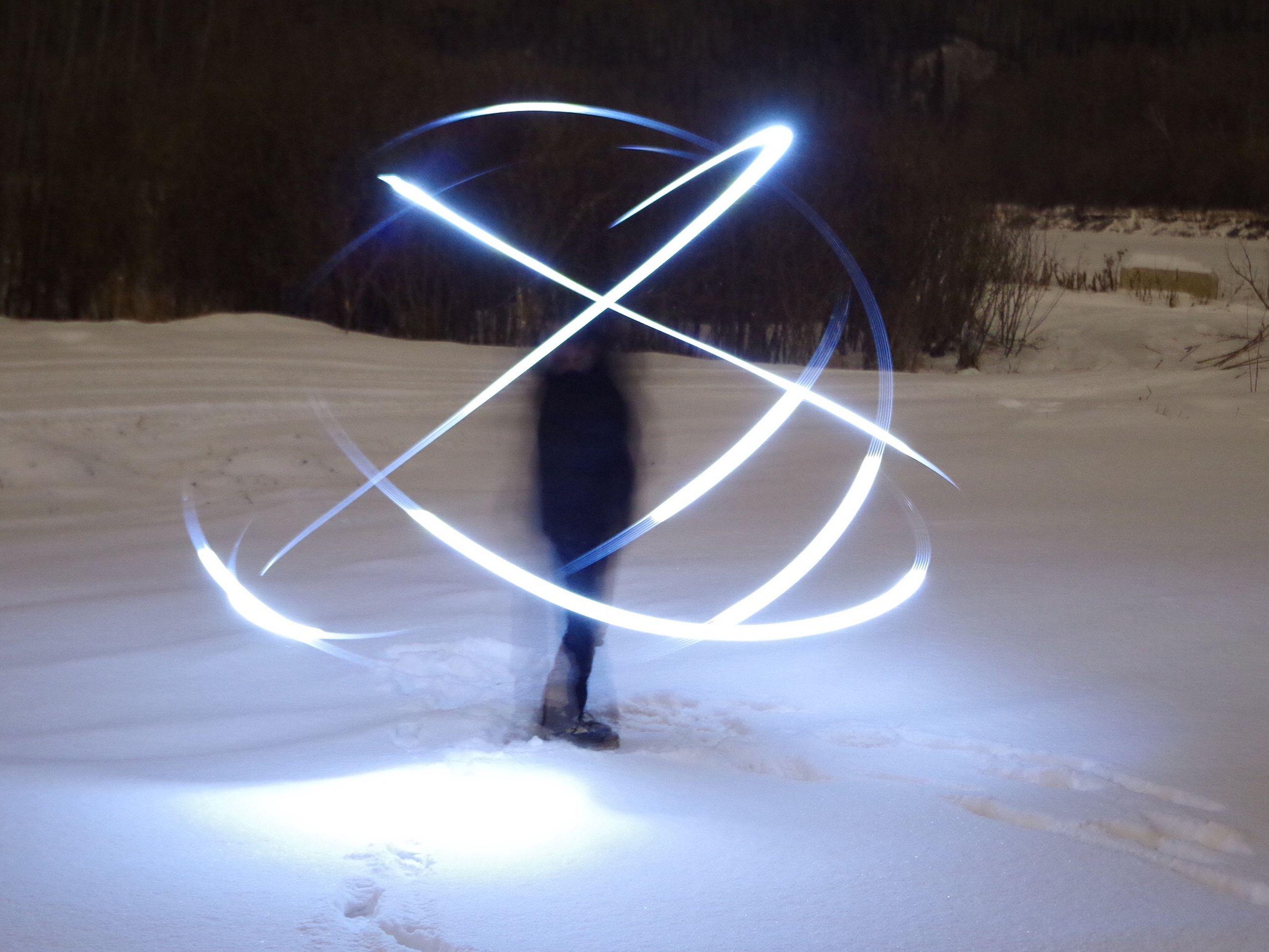 night, illuminated, glowing, lighting equipment, snow, winter, no people, cold temperature, shadow, white color, art and craft, creativity, art, sunlight, light - natural phenomenon, outdoors, street light, ideas, close-up, still life