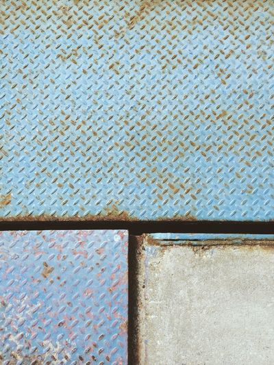 Brooklyn New York City New York NYC Industrial Blue Texture Street Abstract