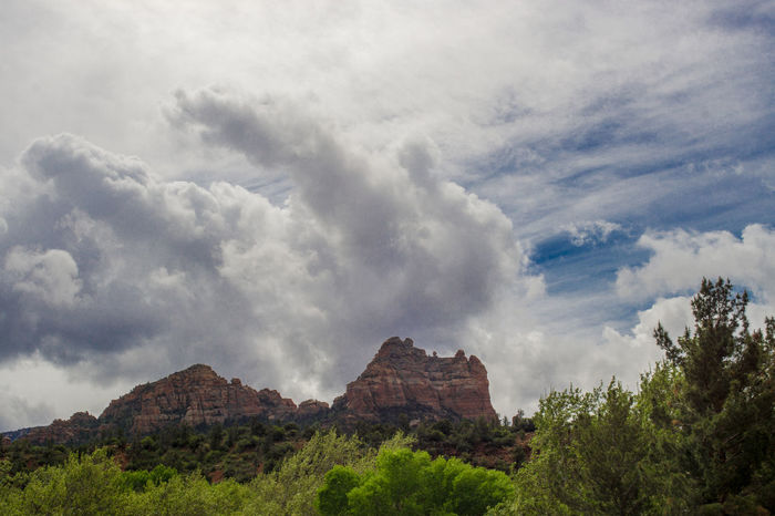 Beauty In Nature Cliff Cloud Cloud - Sky Cloudy Day Geology Idyllic Landscape Mountain Mountain Range Nature Outdoors Physical Geography Remote Rock Rock - Object Rock Formation Scenics Sedona Sedona, Az Sky Tranquil Scene Tranquility Travel Destinations