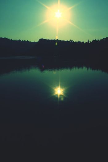 Reflection Tranquility Sunset Tranquil Scene Beauty In Nature Water Nature Outdoors Scenics Idyllic Lake Silhouette No People Morni Hills Morni Hills, Himachal Lake View Reflection Reflections In The Water Reflection Lake
