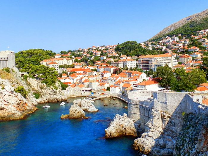 Dubrovnik Travel Travel Traveling Travel Photography Travelphotography Clear Sky City Water Cityscape Summer Sky Architecture Landscape TOWNSCAPE Old Town Tiled Roof  Town Roof Townhouse