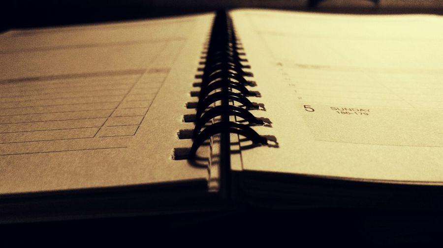 Detail shot of an open book