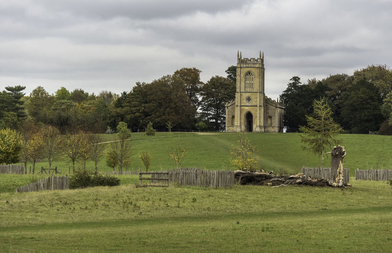 Built Structure Religion Architecture Place Of Worship Cloud - Sky Day Outdoors No People Land Church Field Croome