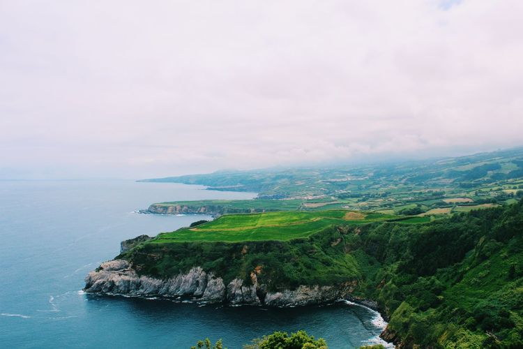 Land meets water! Sea Outdoors Nature Beauty In Nature Landscape Azores Islands Water Green