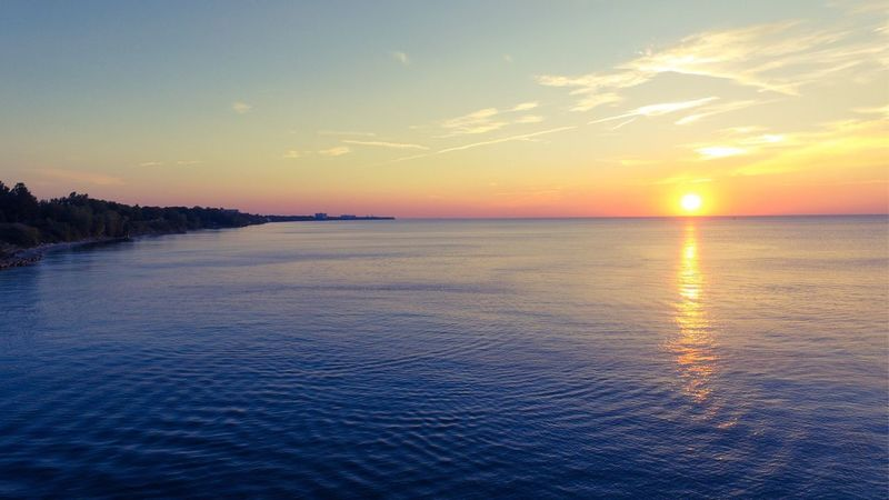 Lake Erie sunset! LakeErie Sunset Lake Water Beauty In Nature Tranquility