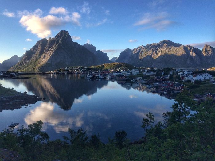 Lofoten Water Sky Architecture Cloud - Sky Mountain Building Exterior Nature Reflection Beauty In Nature Travel Destinations