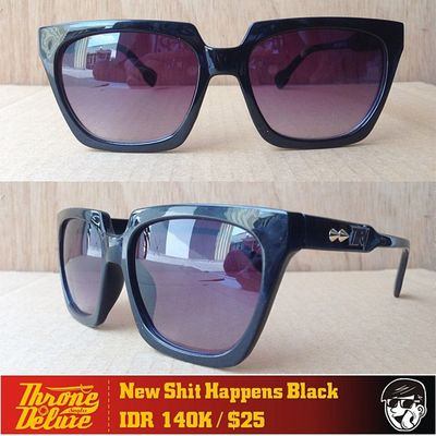 ShitHappens Black. Throne39 Fall Catalogue Sunglasses eyeglasses . Online order to : +62 8990 125 182.