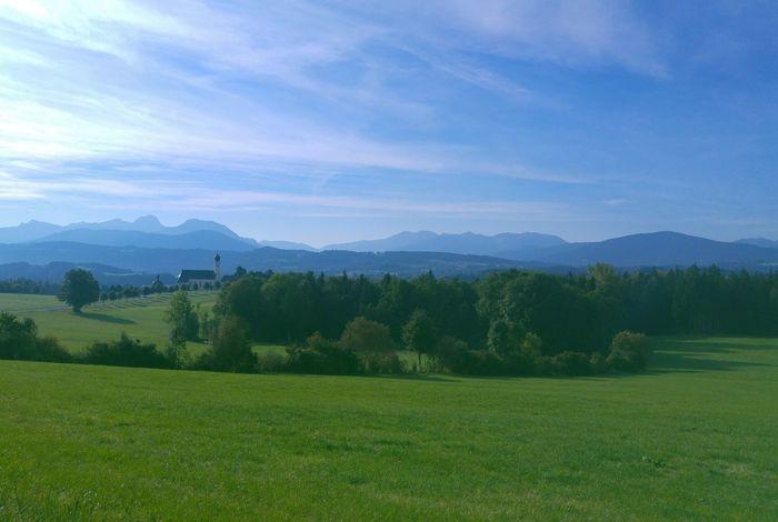Autobahn Chiemgau Irschenberg Landscape Mountain Wallfahrtskirche
