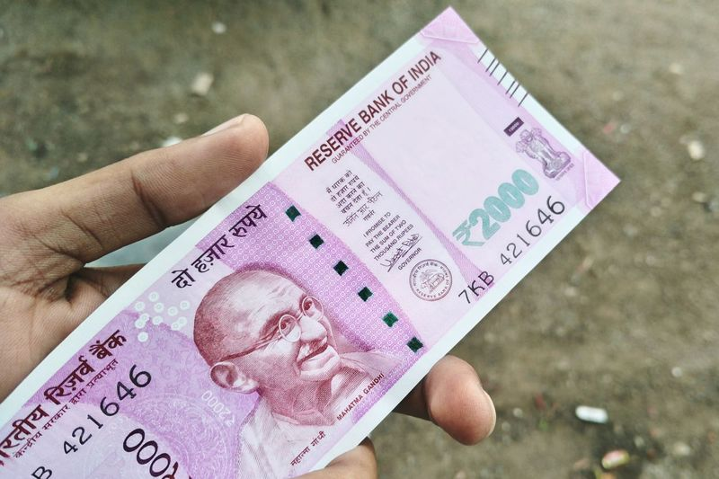 2000Note Indiannewcurrency Pink Pinkcurrency Note Rupee Currencybymodi