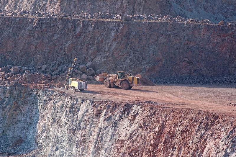 Scenic view of quarry
