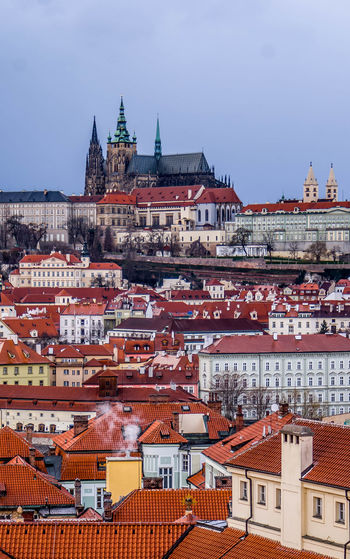 Building Exterior Architecture Built Structure Building City Residential District Roof Sky Crowded Town Nature Crowd Travel Destinations High Angle View Cityscape Day Community Outdoors House TOWNSCAPE Roof Tile Gothic Style Castle Prague Roof