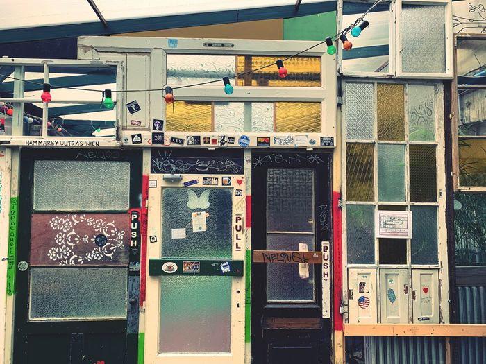 Full frame shot of telephone booth