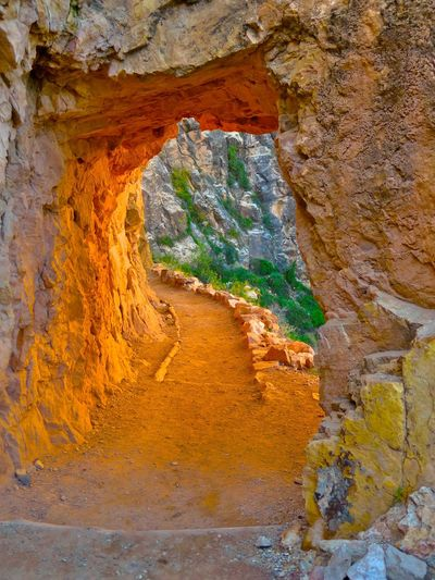 Heavens Gate, Second Tunnel, Bright Angel Trail Hiking Grand Canyon South Rim Bright Angel Trail No People Day Rock Nature Rock - Object Geology Solid Rock Formation Physical Geography Outdoors Travel Destinations Travel Beauty In Nature Non-urban Scene Eroded