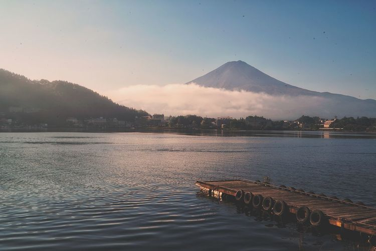 Japan Photos Beauty In Nature Lake View Fuji Fuji Mountain Mt.Fuji Sunrise Nature Silhouette Reflection Water Landscape Lake Cloud - Sky No People Science Fog Outdoors Night Sky Mountain Travel Streamzoofamily Streamzoofamily Friends