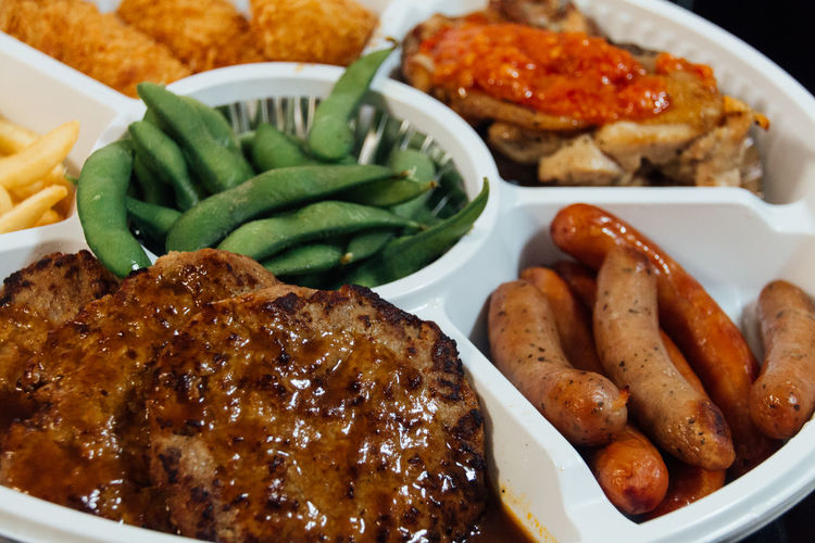 Choice Close-up Dinner Eat Enjoy Food Foodie French Fries Freshness Hamburg Steak Happy Time Meal Mealtime Meat No People Party Time Potato Ready-to-eat Rows Of Things Sausage Serving Size Show Us Your Takeaway! Still Life Taste Good Variation