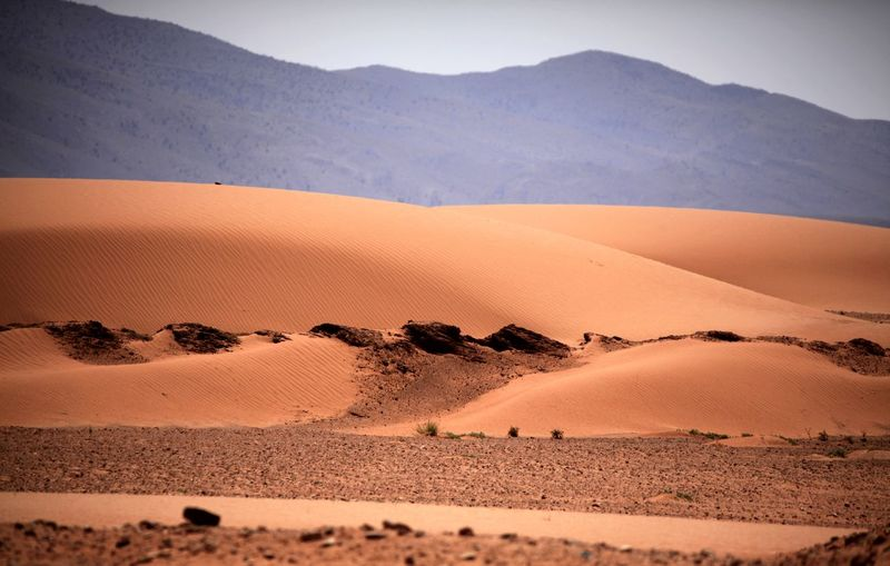 Arid Climate Atmospheric Beauty In Nature Climate Desert Environment Idyllic Land Landscape Mountain Nature No People Non-urban Scene Outdoors Remote Sand Sand Dune Scenics - Nature Sky Tranquil Scene Tranquility