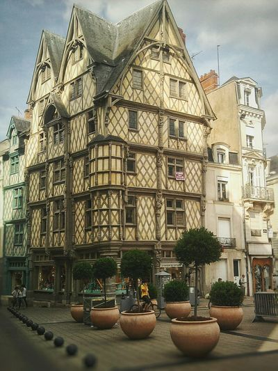 """La Maison d' Adam"". End of XV century. Angers Anjou France Typical Houses Downtown Timber Frame Fachwerkhaus Maison à Colombages / Monumental  Buildings /"