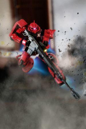 Char the great! Zaku ZakuII PLAMO Plamodel Gundamcollection Gundam Gunpla Toys Toy Photography Toysphotography Toy Photoshop