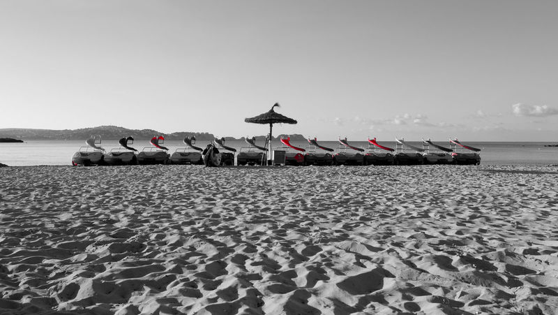 Beach Day Fujifilm_xseries Mallorca No People Outdoors Sea Sky Vacations shot with Fujifilm Fujifilm X-m1 in SPAIN Black With A Splash Of Color Sommergefühle Let's Go. Together.