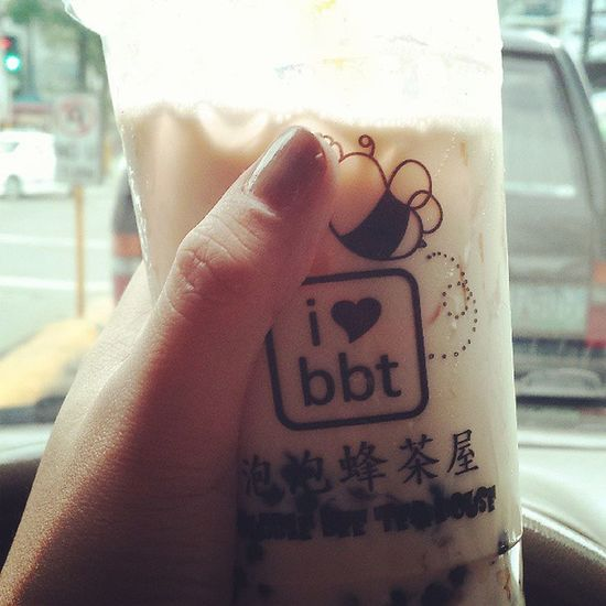 Milktea for lunch :) ♥ BBT Bubblebeetea Wintermelon Milktea favorite wednesday cooler igerscebu2013 igers