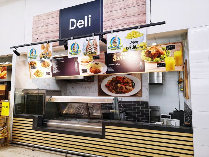 Deli restaurant City Refrigerator Retail  Business Finance And Industry Store Variation Sweet Food Food And Drink For Sale Display Shop Market Various Street Market Stall Market Stall Price Tag Display Cabinet Retail Display