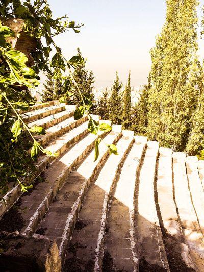 Zouk Lebanon Landscape Amphitheater Roman Architecture Sea View Skyline