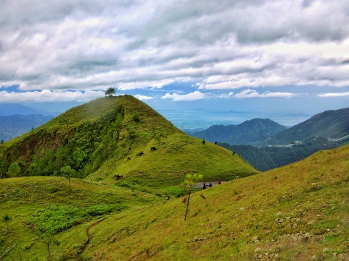 Trail to Mt. Ulap in Benguet, Philippines Beauty In Nature Cloud - Sky Landscape Mountain Mountain Range Outdoors Scenics Slope