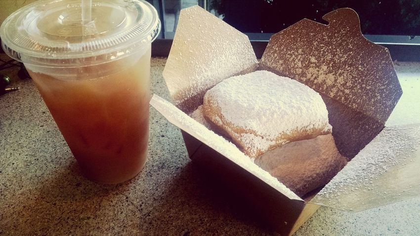Beignets and Tea for lunch