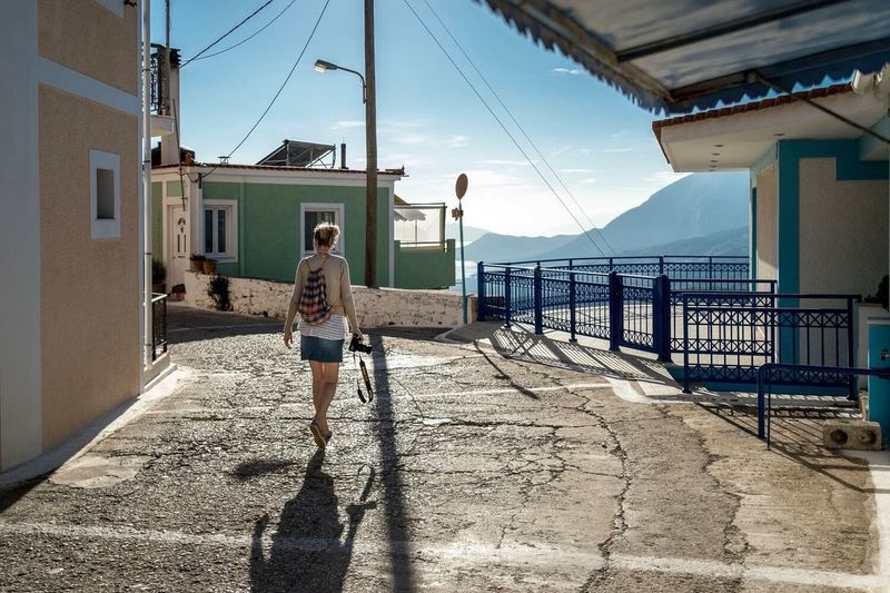 Traveling Home For The Holidays Photography One Person People Urban Lifestyle Samos Greece Island Sunlight