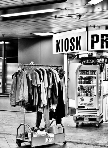 Black And White Kiosk selling Second Hand Clothes in Bonn