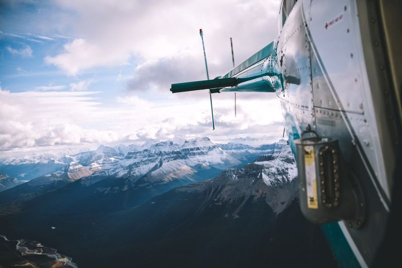 Flying oder the Rockies. Outdoors Sky Range Cold Temperature Tranquility Scenics Snow Mountain Range Beauty In Nature Nature Mountain Landscape Idyllic Glacier Travel Destinations Aerial View Canada